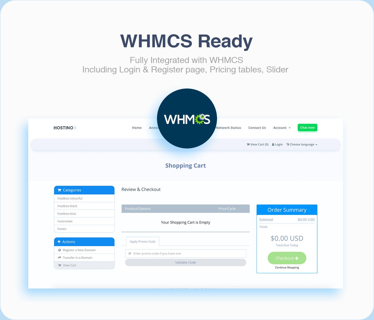 Hostino WHMCS Web Hosting Template - 8
