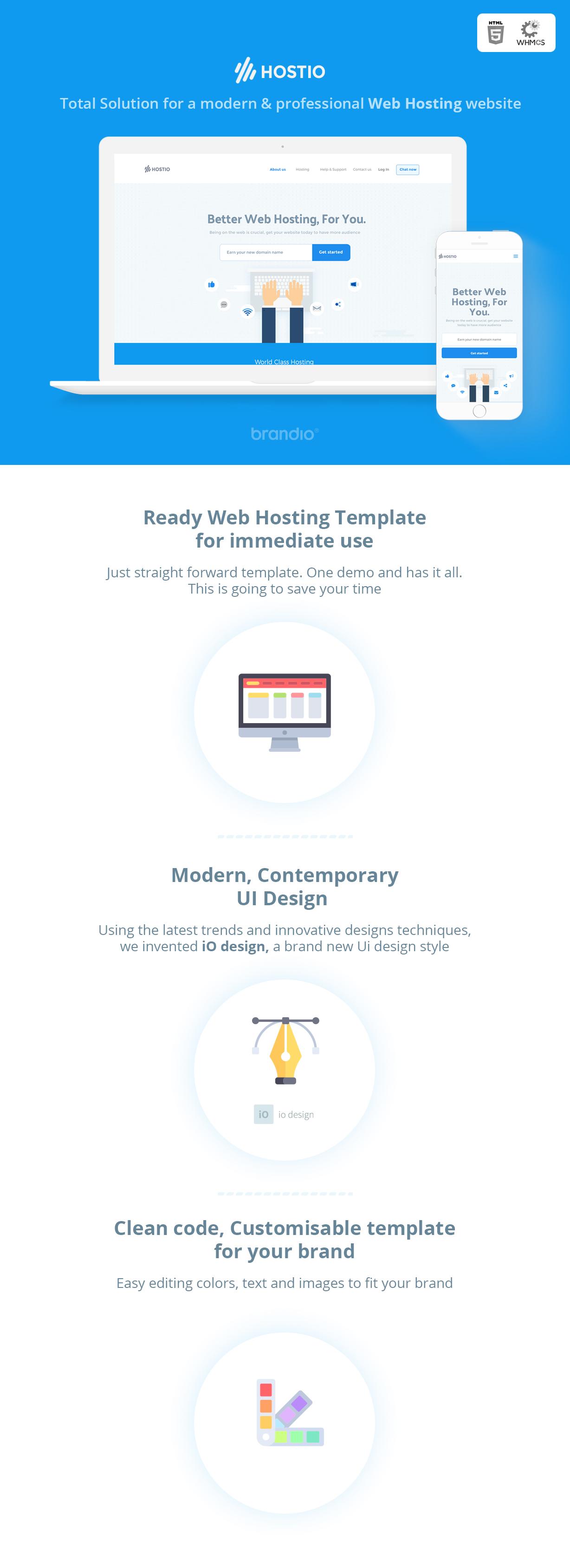 Hostio HTML & WHMCS Web Hosting Template - 4