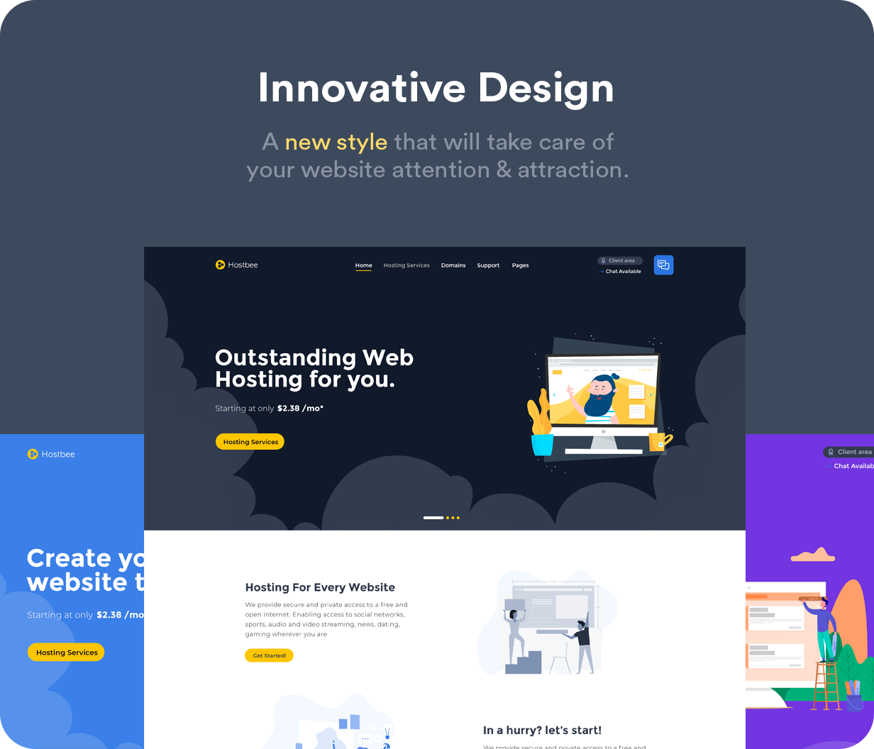 Hustbee - Hosting HTML & WHMCS Template - 8